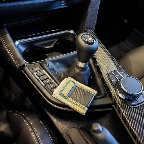Carbon Fiber Money Clip by BMW Shift Knob